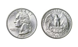 La moneda americana es un dólar cuarto, año 1998 fotos de archivo