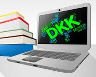 La moneda de la DKK significa el comercio y la invención mundiales ilustración del vector