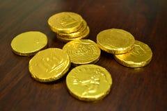 La moneda de oro Fotografía de archivo libre de regalías