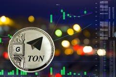 La moneda de la TONELADA imagen de archivo