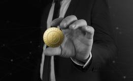 La moneda del bitcoin de Cryptocurrency Foto de archivo