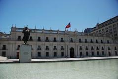 La Moneda di Palacio a Santiago Immagini Stock Libere da Diritti