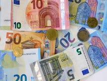 La moneda europea imagen de archivo