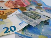 La moneda europea foto de archivo libre de regalías