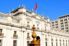 La Moneda Palace in Downtown Santiago, Chile. Stock Photo