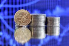 2 La moneta dell'euro 50 è stata pubblicata dal Belgio Fotografia Stock