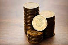 La moneta della rublo russa Fotografia Stock Libera da Diritti