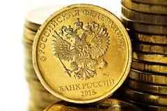 La moneta della rublo russa Immagine Stock Libera da Diritti