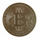 La moneta di oro ha su un fondo bianco Fotografie Stock Libere da Diritti