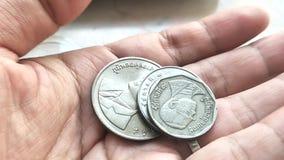 La moneta tailandese è vecchia video d archivio
