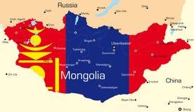 La Mongolia Fotografia Stock