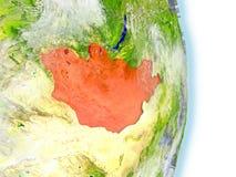 La Mongolie en rouge sur terre illustration libre de droits