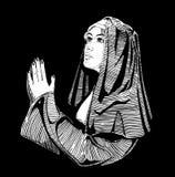 La monja está rogando libre illustration