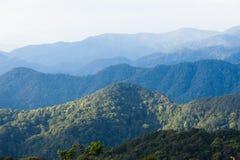 la montaña acoda la visión Fotografía de archivo