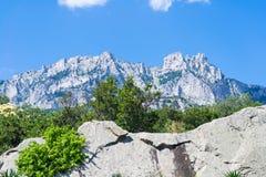 La montaña Ai Petri en la Crimea Foto de archivo libre de regalías