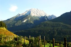 La montaña de Alpes en verano es aloso hermoso Fotos de archivo