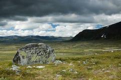 La montaña de Dovrfjel imágenes de archivo libres de regalías