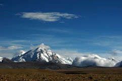 La montaña de la nieve en Tíbet Foto de archivo libre de regalías