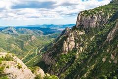 La montaña de Montserrat Fotografía de archivo libre de regalías