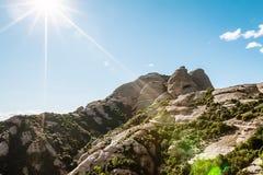 La montaña de Montserrat Imagen de archivo
