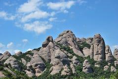 La montaña de Montserrate Fotografía de archivo libre de regalías