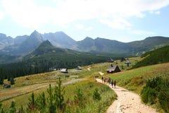 La montaña de Tatra treck Imágenes de archivo libres de regalías