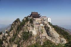 La montaña del jiuhua Fotos de archivo