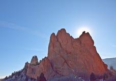 La montaña en el jardín de dioses Foto de archivo