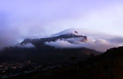 La montaña frecuentada Fotografía de archivo libre de regalías