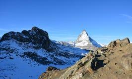La montaña hermosa en Suiza Imagen de archivo libre de regalías