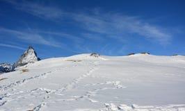 La montaña hermosa en Suiza Fotografía de archivo
