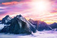 La montaña más alta de Everest del pico de montaña en el mundo P nacional Fotos de archivo libres de regalías