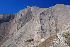 La montaña más alta de Sontorini Foto de archivo