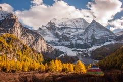 La montaña sagrada de la nieve de Shenrezig Fotografía de archivo libre de regalías