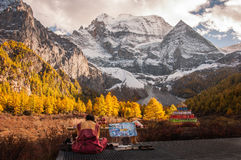La montaña sagrada de la nieve de Shenrezig Imágenes de archivo libres de regalías