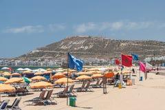La montaña y la costa costa, Agadir de Casbah Foto de archivo libre de regalías
