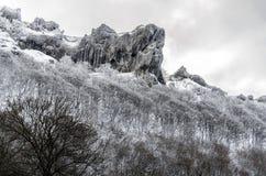 La montagna congelata Fotografia Stock