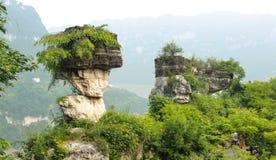 la montagna del fiume Chang Jiang Fotografie Stock Libere da Diritti