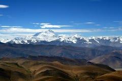 La montagna dell'Himalaya varia dalla strada Fotografia Stock