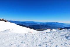 La montagna della neve del drago della giada Immagine Stock Libera da Diritti