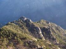 La montagna di altezza in Corea del Sud Immagine Stock