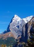 La montagna di Eiger delle alpi di Bernese nel Bernese Oberland o Immagini Stock