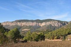 La montagna di EL Montsant, abbellisce vicino di La Vilella Alta, il EL Priorat, provincia di Tarragona Fotografie Stock Libere da Diritti