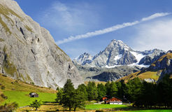La montagna di Grossglockner veduta dal sud Immagini Stock Libere da Diritti