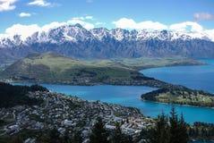 La montagna di Remarkables, Nuova Zelanda Immagini Stock Libere da Diritti