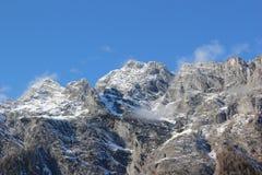 La montagna di Watzmann nel lago Königssee. Alpi bavaresi, Germania. Immagine Stock Libera da Diritti