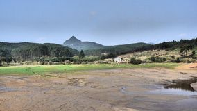 La montagna distante Fotografia Stock Libera da Diritti
