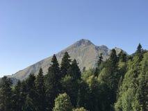 La montagna gradisce sulla cartolina Immagini Stock Libere da Diritti