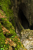 La montagna nascosta scava alla montagna di Miroc ed al parco nazionale di Djerdap Immagini Stock