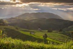 La montagna nel MAI di Chaing, Tailandia Fotografia Stock